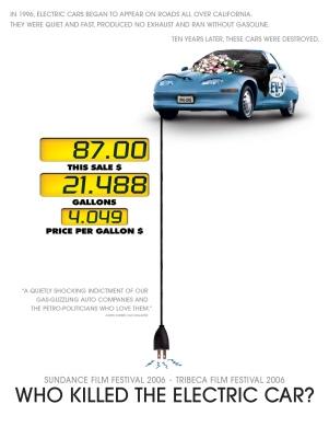 Cartel de 'Who Killed the Electric Car?'