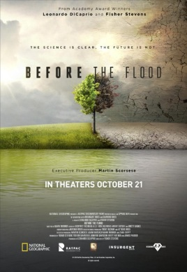 Cartel de 'Before the Flood'