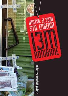 Cartel de '13M Atocha, El Pozo, Santa Eugenia... Donibane'